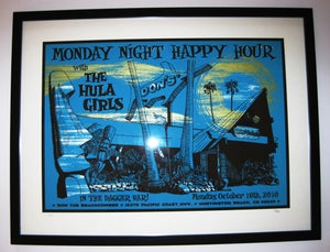 Image of Hand-pulled silk screen gig poster: Don the Beachcomber 10/18/10
