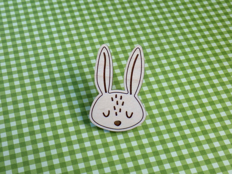 Maple Hardwood Rabbit Pin / Magnet