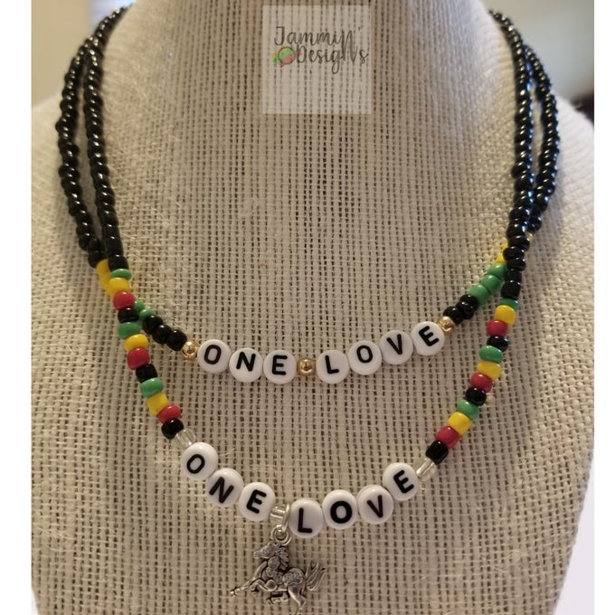 Image of ONE LOVE Bead Necklaces