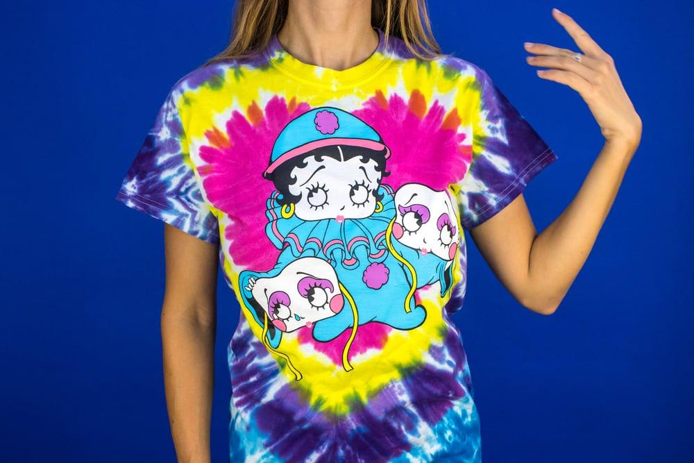 Betty Boop - Betty Boop Clown Tie Dye Shirt