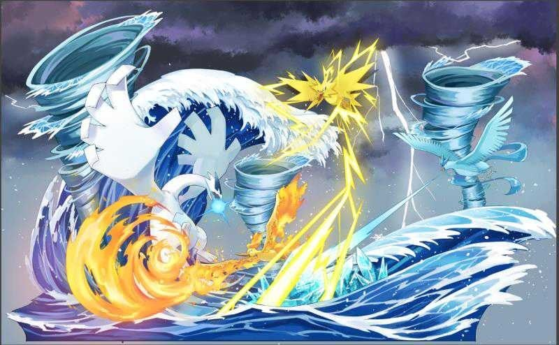 Image of [Private Build][Pre-Order]Pokemon Lugia Vs Legendary Bird Resin Statue