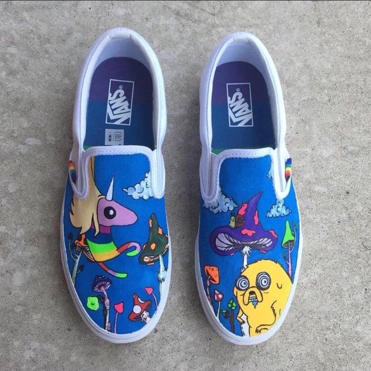 Adventure Time Custom Vans | fadedfairie