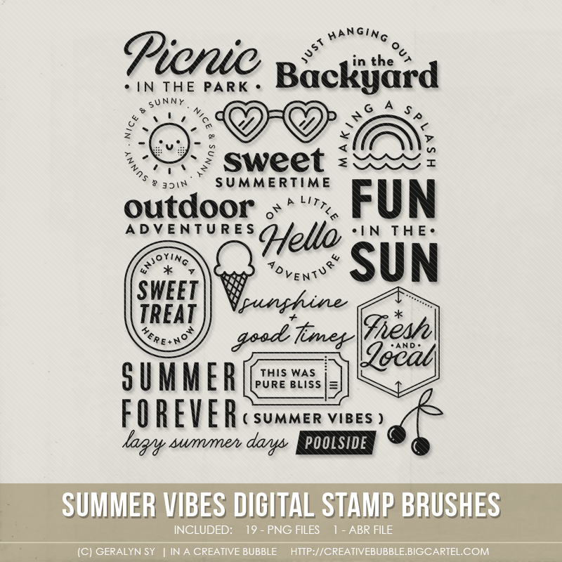 Image of Summer Vibes Stamp Brushes (Digital)