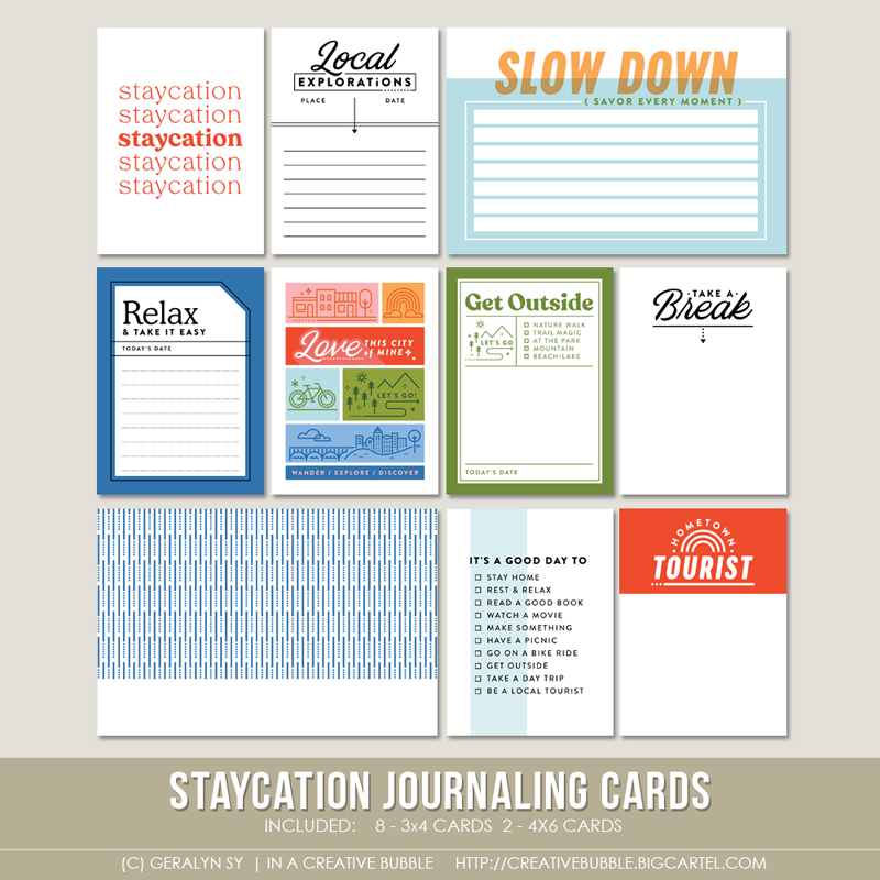 Image of Staycation Journaling Cards (Digital)