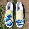 The Great Wave off Kanagawa Vans (Yellow)