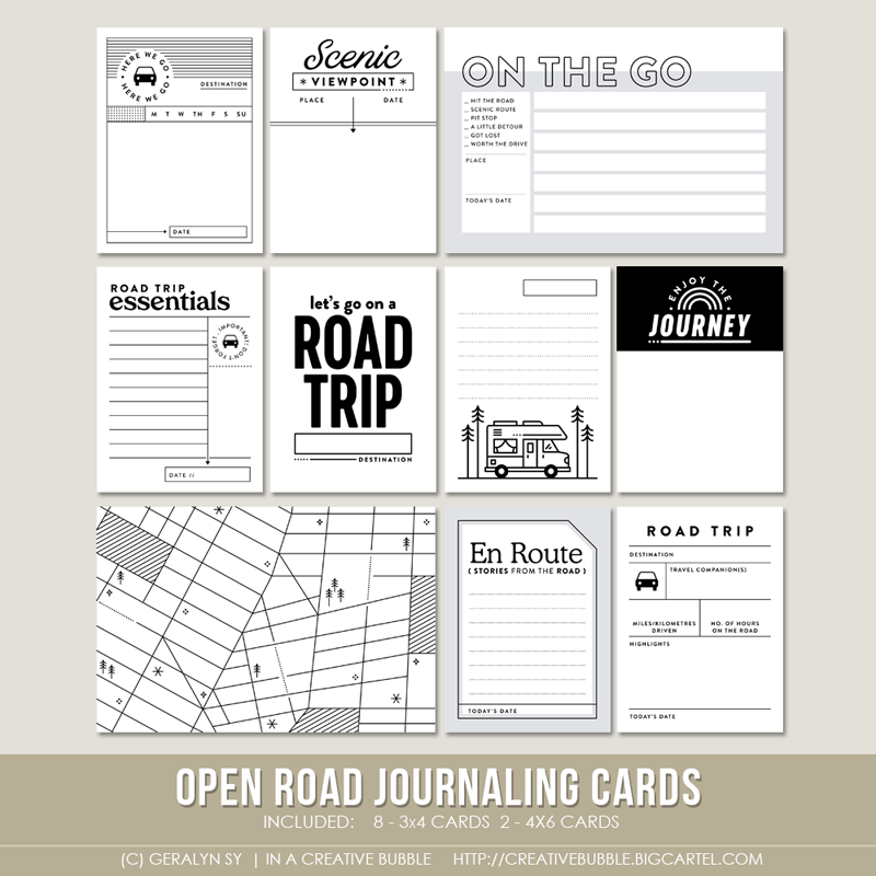 Image of Open Road Journaling Cards (Digital)