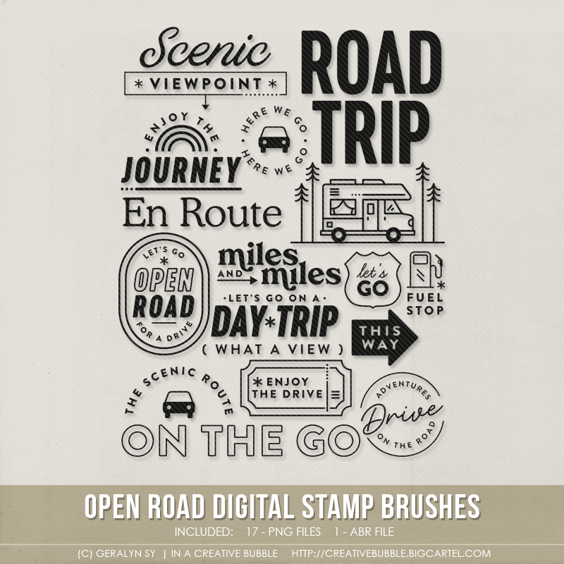 Image of Open Road Stamp Brushes (Digital)
