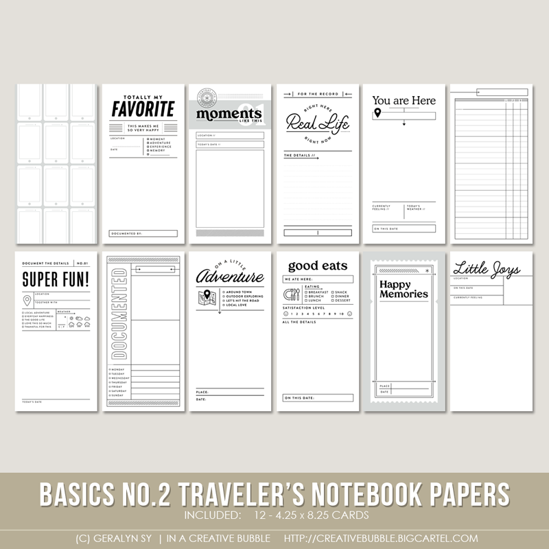 Image of Basics No.2 Traveler's Notebook Papers (Digital)