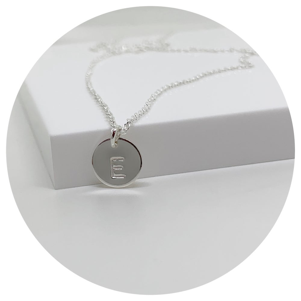 Image of Initial Disc Necklace