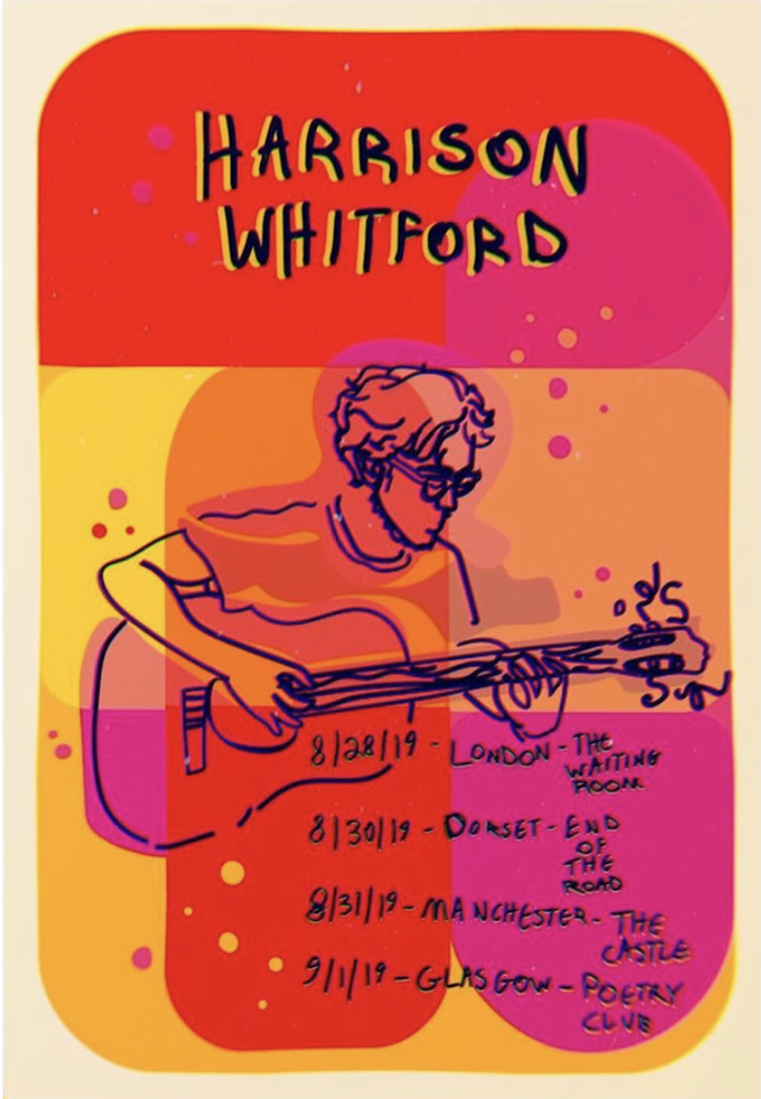 Image of Harrison Whitford 2019 Tour Poster