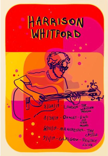 Image of Harrison Whitford 2019 Tour Poster