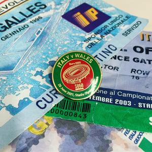 Image of ITALY   V  WALES EURO Matchday Pin Badge