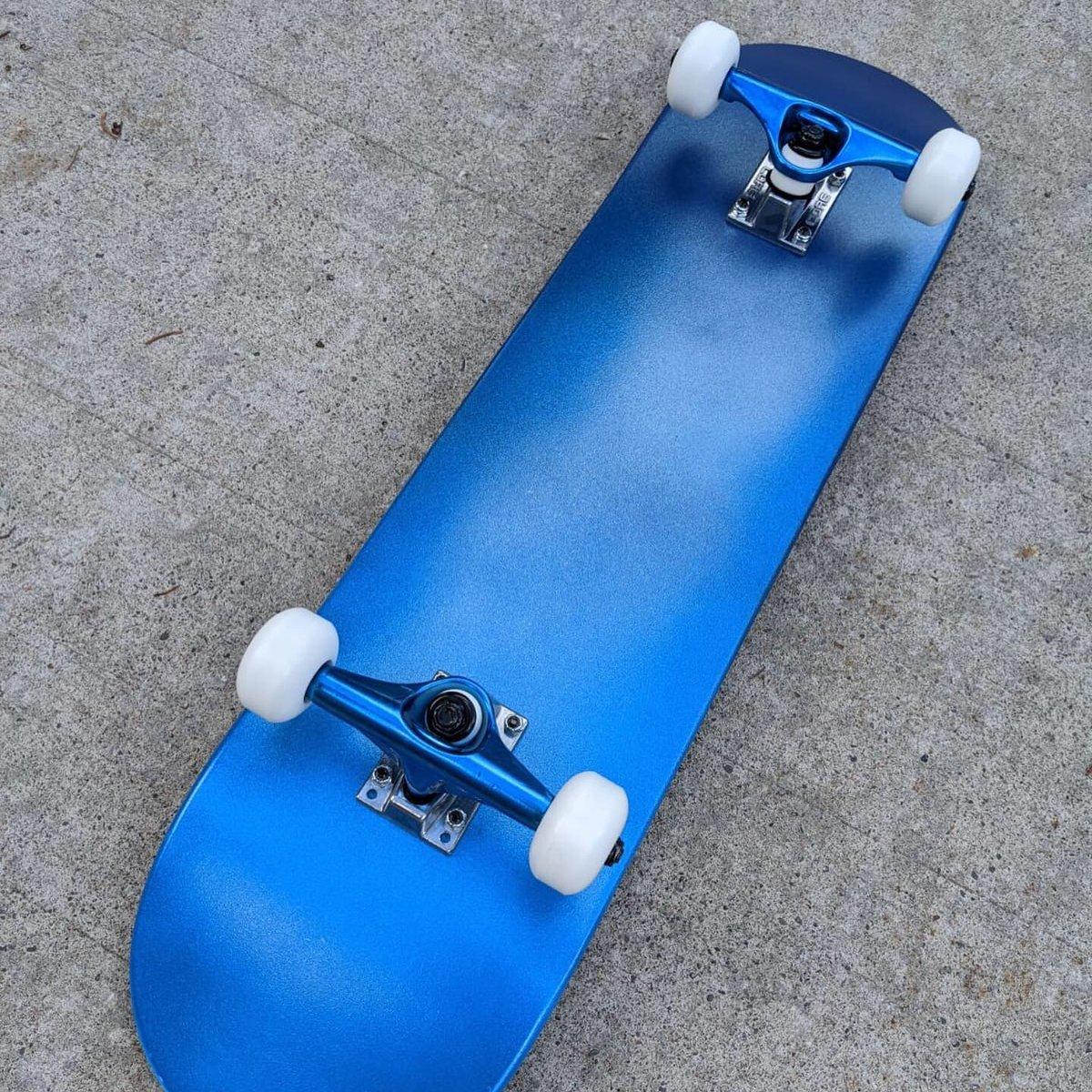 "Image of Metallic Blue 8.0"" Complete Skateboard"