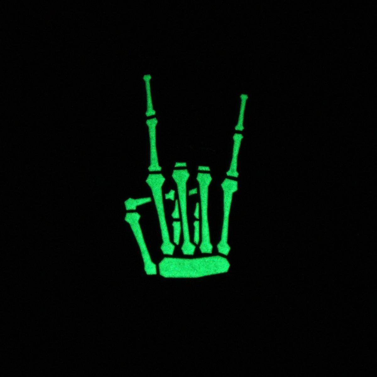 Rock'n'Roll Enamel Glow Pin