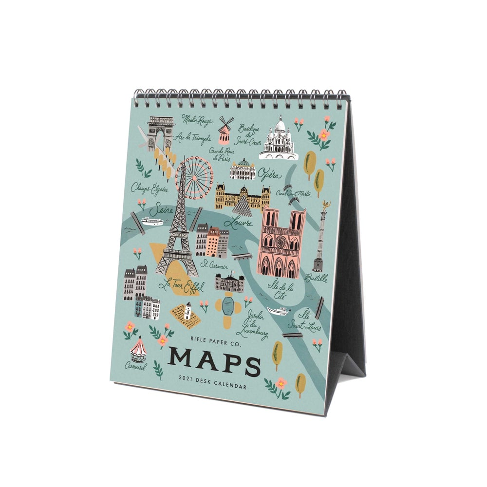 Image of CALENDRIER À POSER 2021 MAPS, RIFLE PAPER CO.