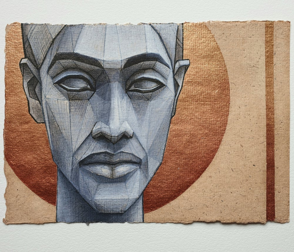 "Image of ""Akhenaten"" watercolour study"
