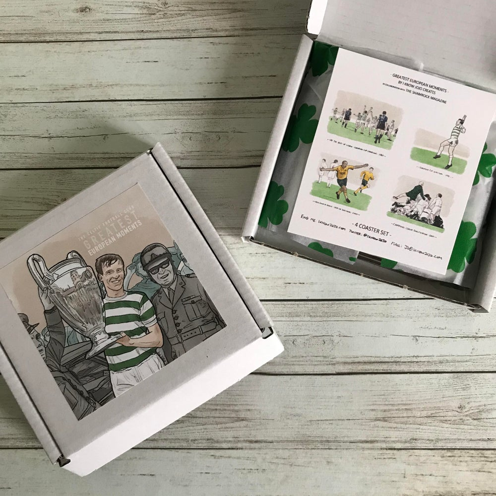 MADE TO ORDER: CELTIC GREATEST EUROPEAN MOMENTS - COASTER SET