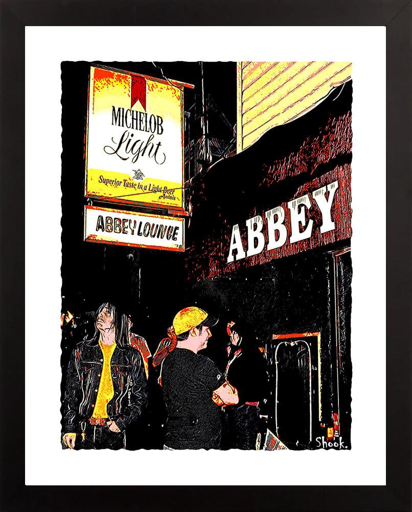 "Image of Abbey Lounge Cambridge Giclée Art Print - 11"" x 14"""