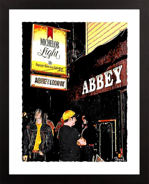 "Image of Abbey Lounge Cambridge Giclée Art Print - 11"" x 14"""