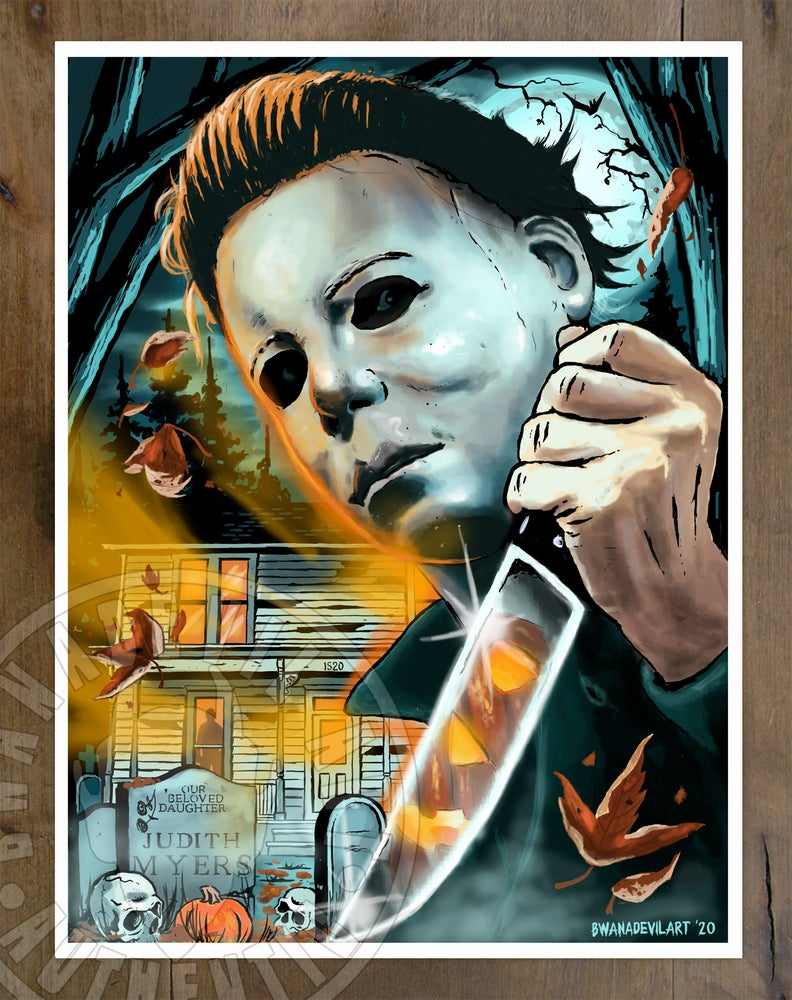 Image of Michael Myers (Halloween) Art Print 9 x 12 in.