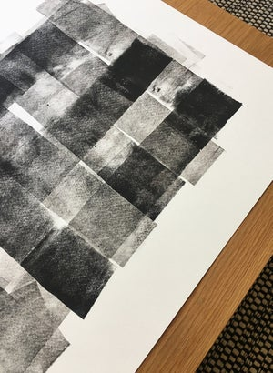Image of Limited edition black lino 08