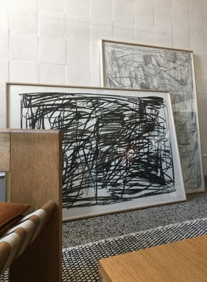 Image of Limited edition black charcoal 70x100 cm