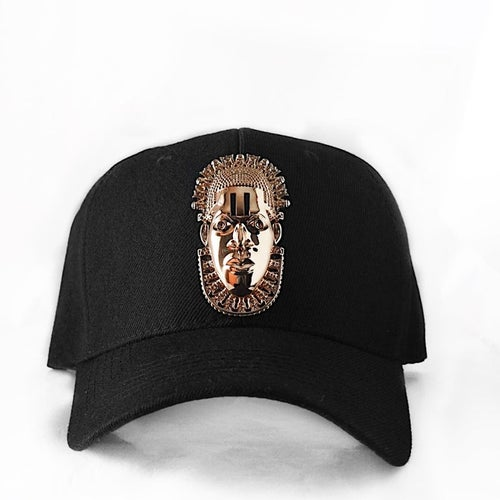 Image of Queen Idia Backless Hat (Black x Gold)