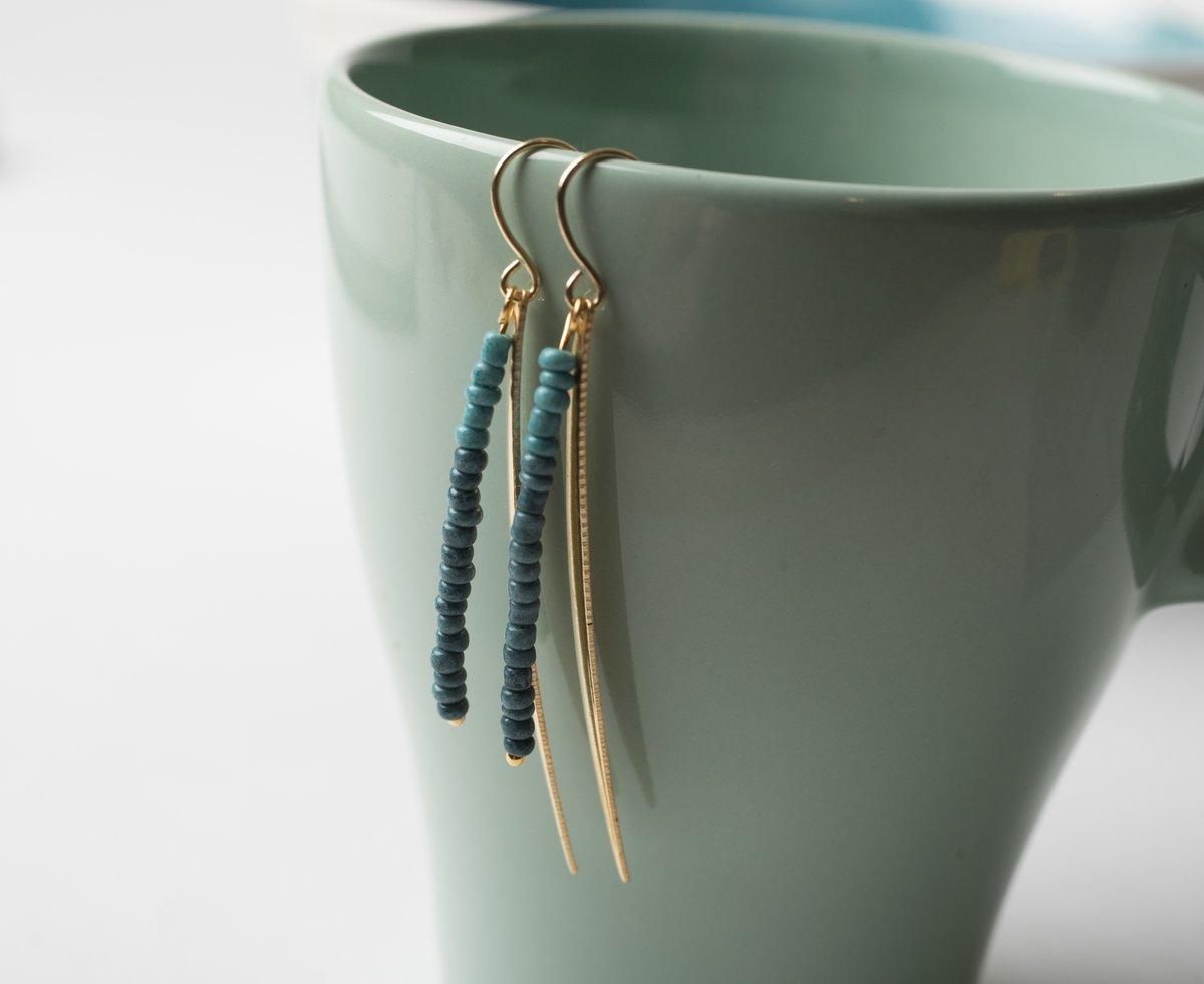 Image of Brass Spike Earrings