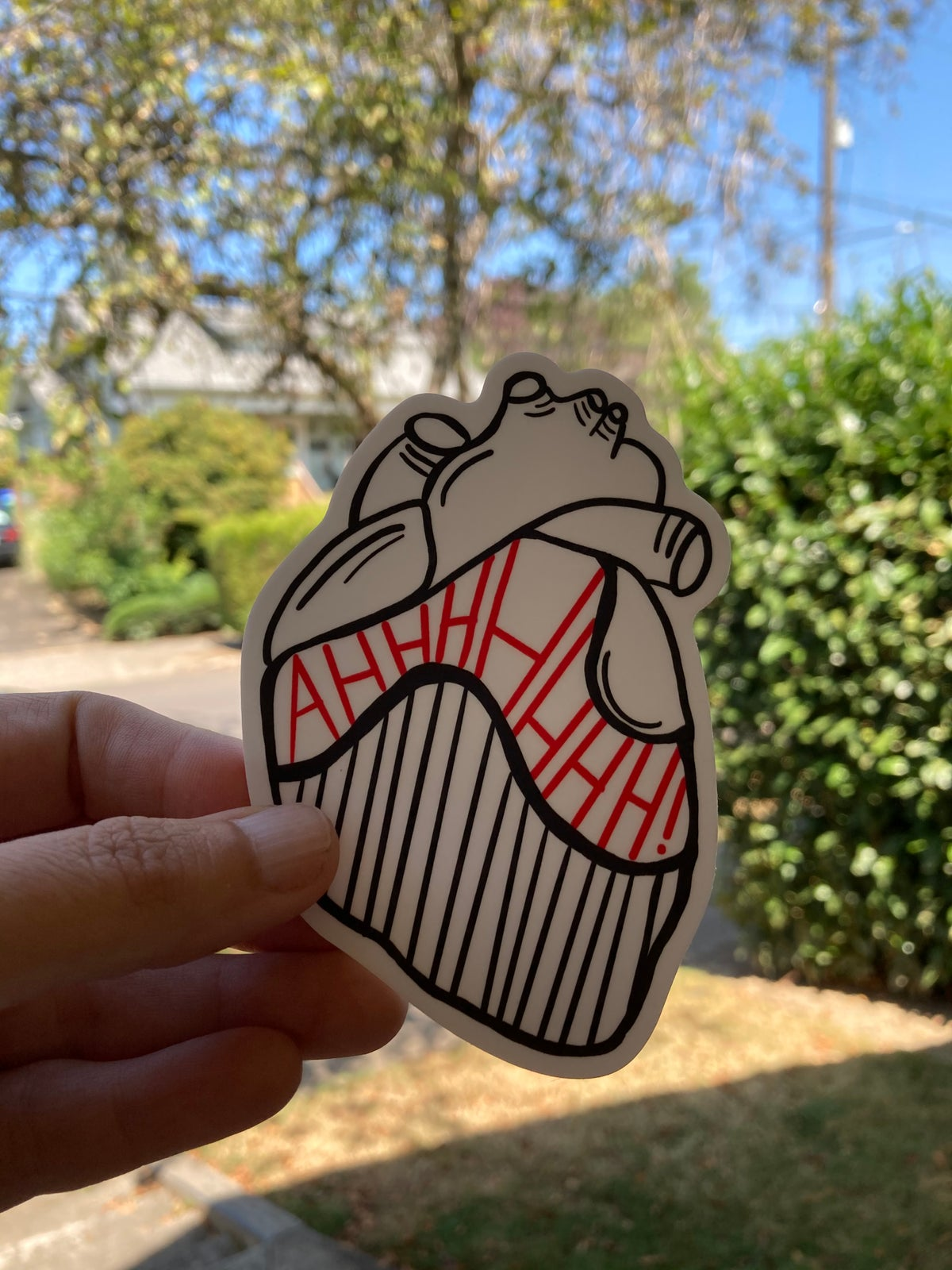 Image of Scream in your heart stickers