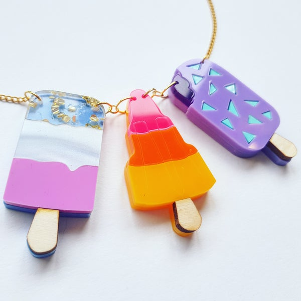 Image of Triple Ice Cream Necklace - PRE-ORDER