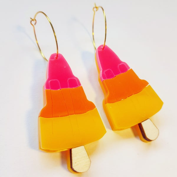 Image of Rocket Lolly Earrings - PRE-ORDER