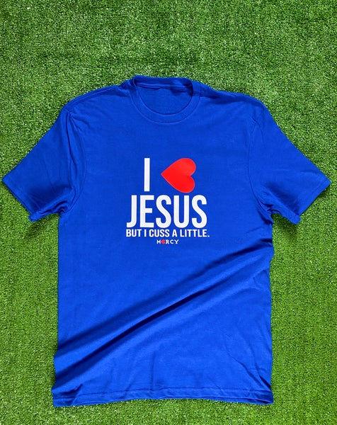 "Image of ""I❤️JESUS"" - royal blue"
