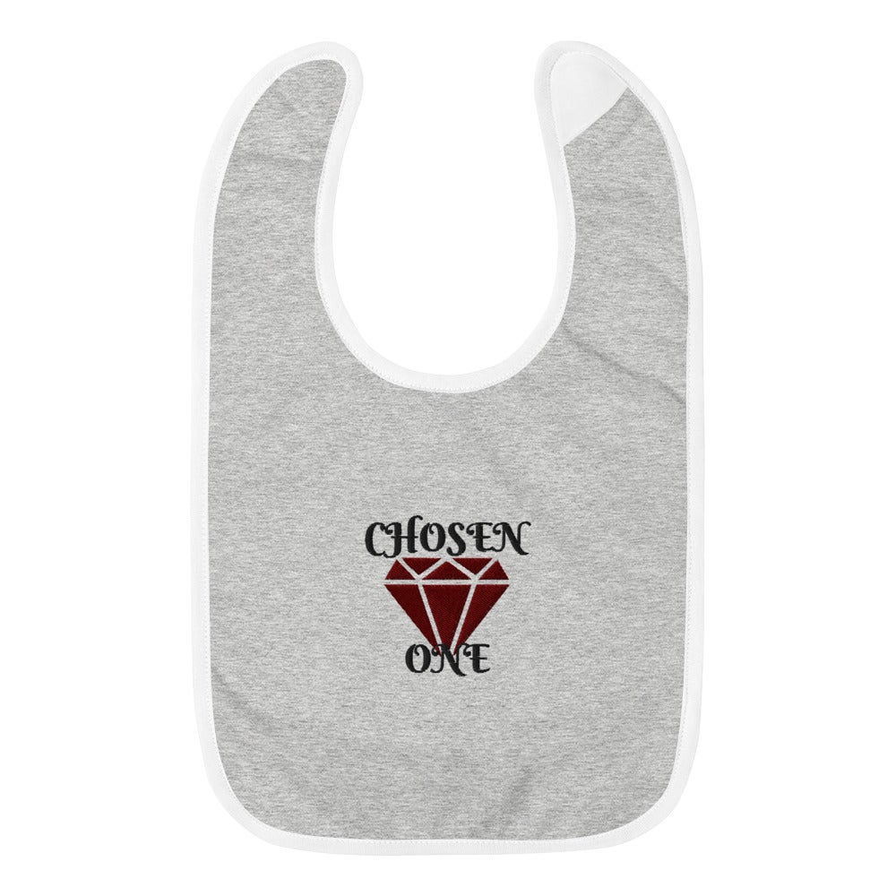 Image of Embroidered Chosen One Baby Bib