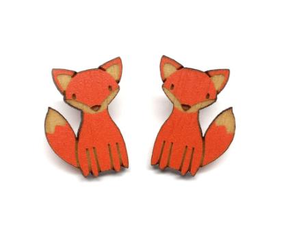 Image of Fox Post Earrings