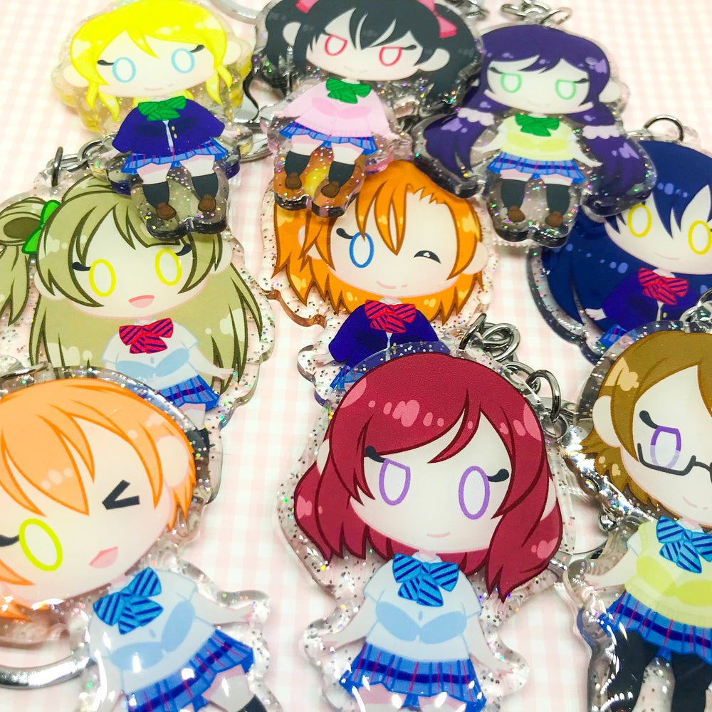 "Image of Love Live! Muse 2.5"" Glitter Charms"