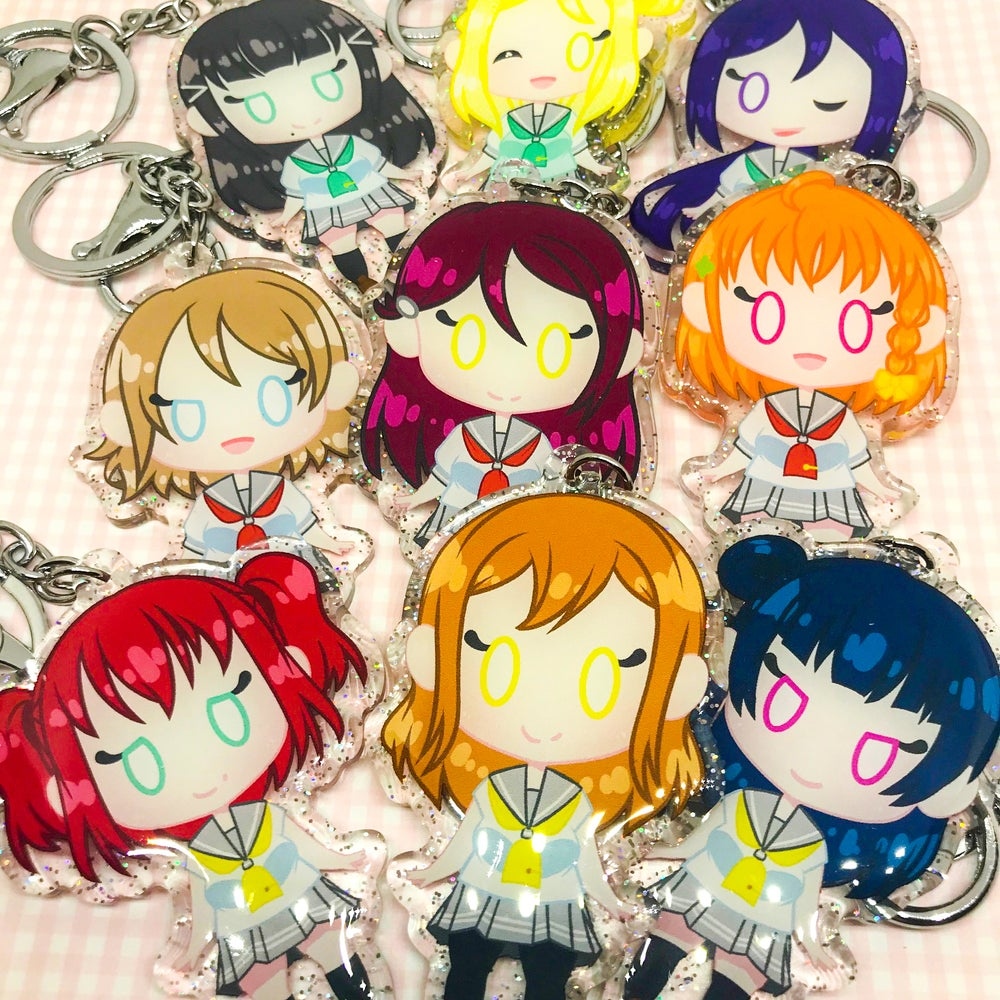 "Image of Love Love! Aquors 2.5"" Glitter Charms"