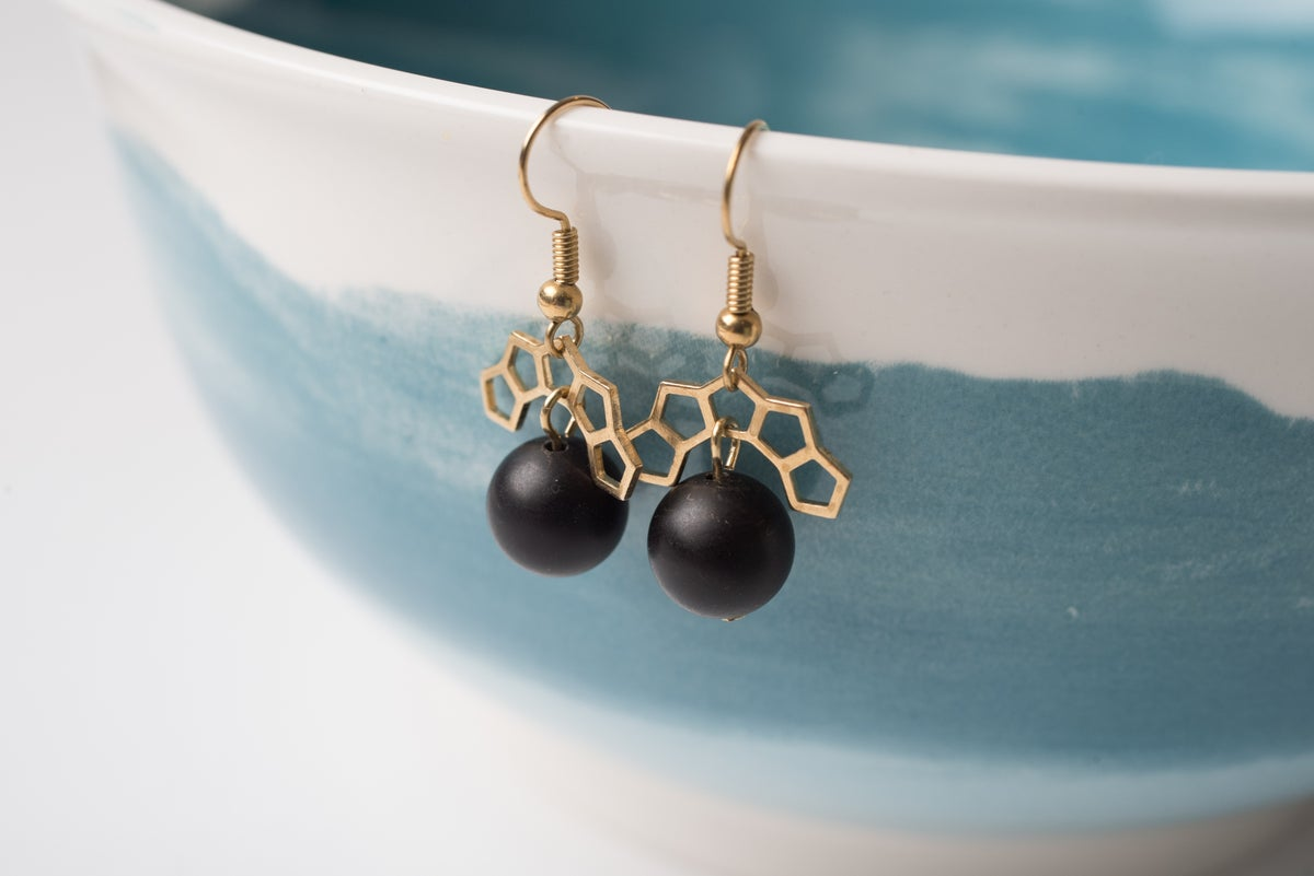 Image of Brass Court Wrecking Ball Earrings