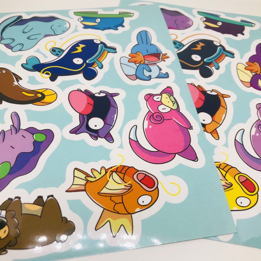 Image of Dumb Pokémon Sticker Sheet