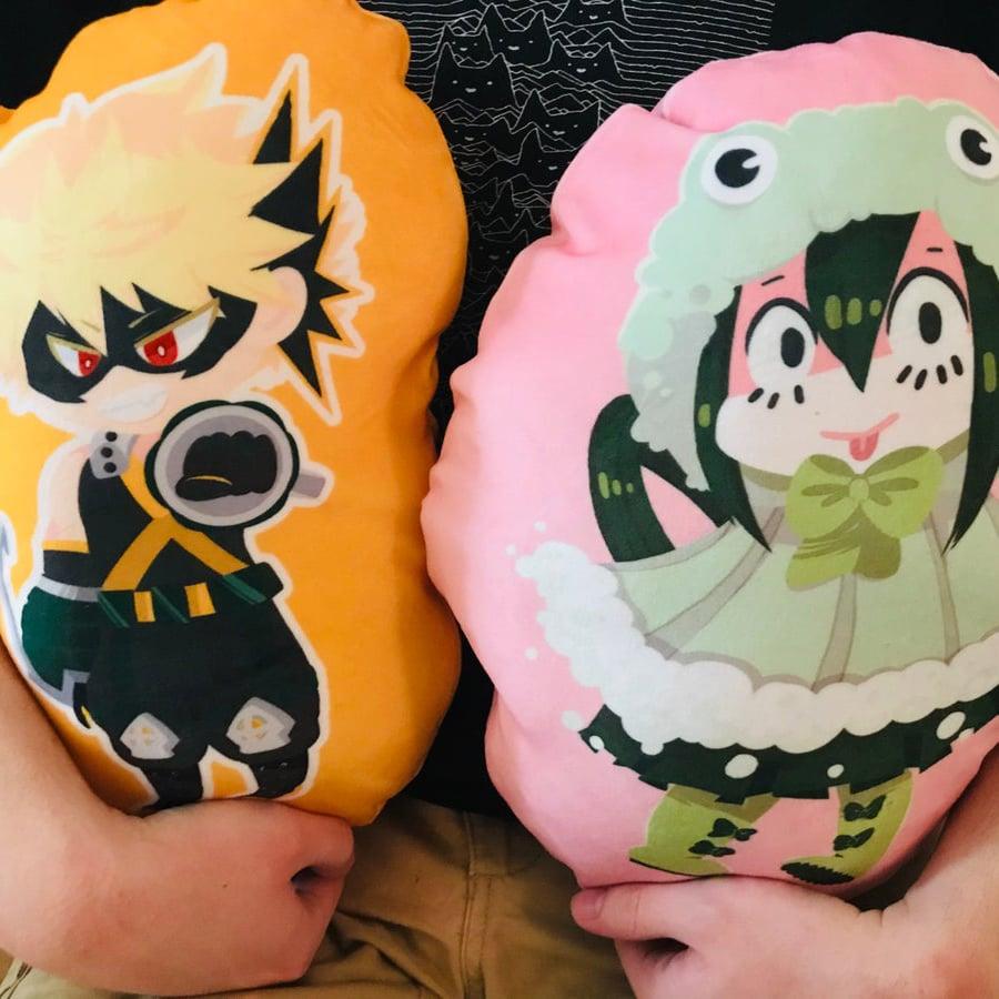 Image of BNHA Bakugou Tsuyu Pillows