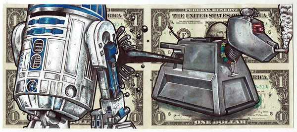 Image of Uncut Dollar Original. Oil Spill.