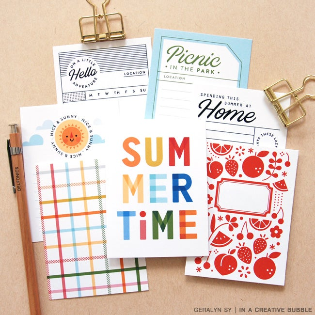 Image of Summer Vibes Journaling Cards (Digital)