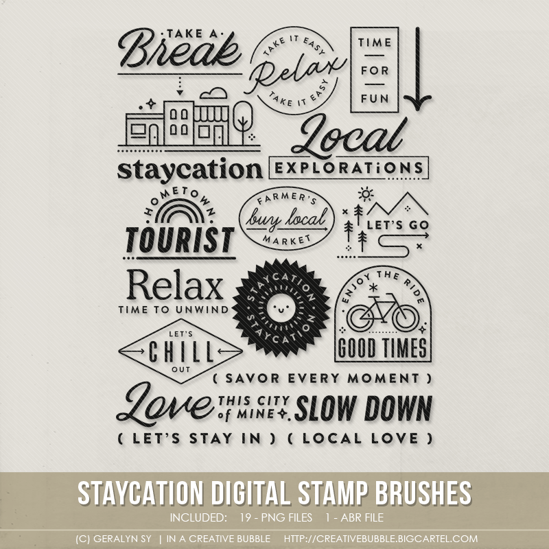 Image of Staycation Stamp Brushes (Digital)