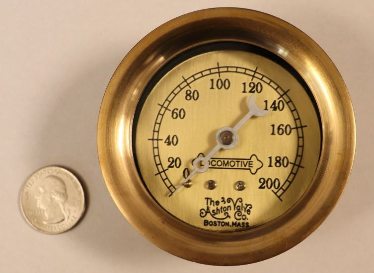 "Image of Large Scale 3"" 200psig pressure gauge"