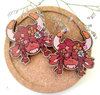 Wooden Highland Cow Pin