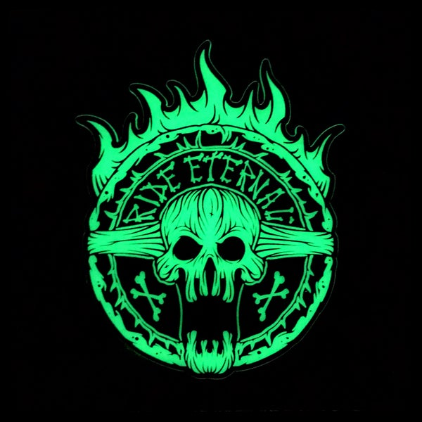 Image of Ride Eternal acrylic glow patch (limit 1)