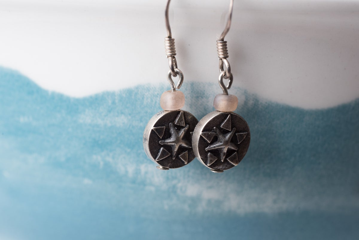 Image of Hill Tribe Silver Star Earrings