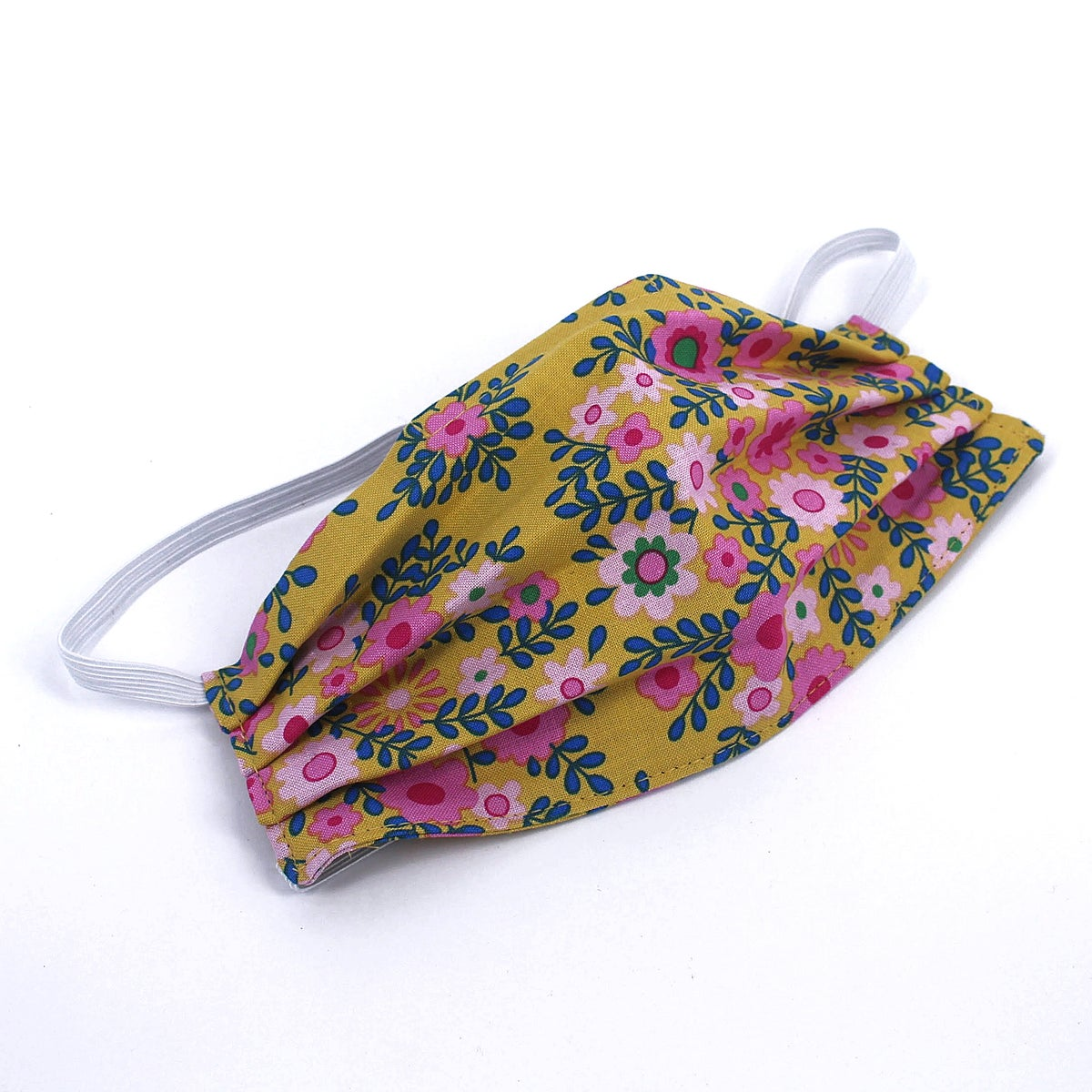 Image of Childs Mask - Yellow Floral