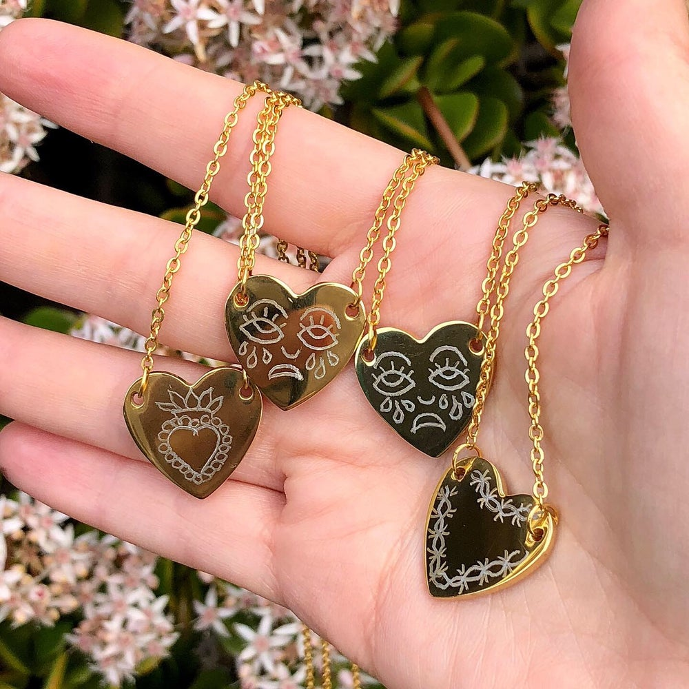 Image of ENGRAVED HEART NECKLACE