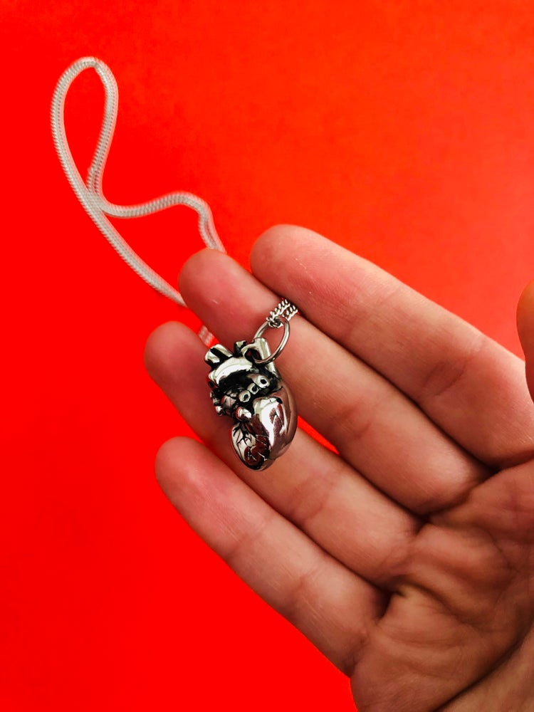 Image of SMALL SOLID ANATOMICAL HEART PENDANT