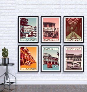 Image of Singapore Print Set | Set of 6 Prints | Gallery Wall Set | Choose any 6 prints in my shop